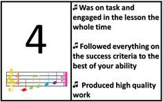 Singing Rubric for Choir, Voice, Vocal, Music, Evaluation