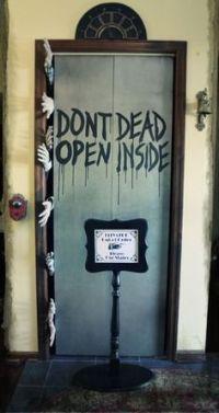 Classroom Halloween Door decorating contest. Zombies ...