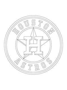 Medium Houston Astros Logo Cut Outs from PrintableTreats
