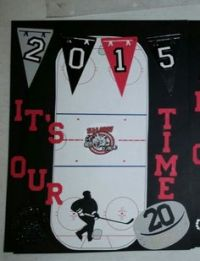 Hockey tournament swag bags! Made these along with the