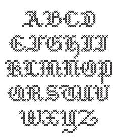 inspiration for hand lettering. Cross Stitch Basic font