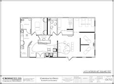 #Floorplan for #Chiropractor office with X-Ray and #