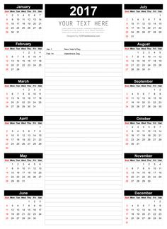 Download free printable 2017 Calendar Templates that you