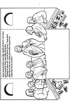 Kids Bible Worksheets-Free, Printable The Last Supper
