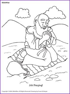 Kids coloring page from What's in the Bible? featuring Job