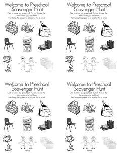Preschool open houses, Scavenger hunts and Hunt's on Pinterest