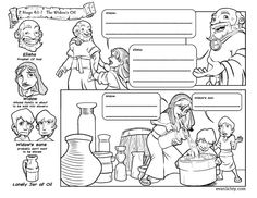 Elijah Helps A Widow Coloring Page Coloring Pages