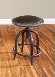 Flexsteel Tavern Counter Stool With Cast Iron Base