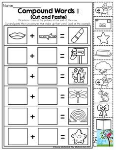 Compound Word Crossword Puzzle. TONS of printables to keep