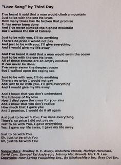 Christian Songs | Christian Worship Song Lyrics: Love Song ...