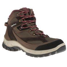 chaussure de randonnee mon ne femme forclaz haute impermeables marron quechua