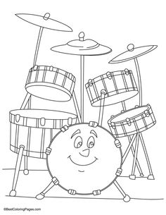Snare Drum Coloring Page. You Can Print Out This #Drums #