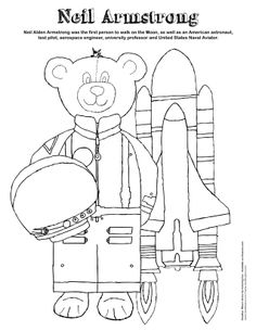 Neil armstrong, Coloring pages and Coloring sheets on