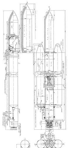 Photographs of rocket nozzle test. Computer drawing of a
