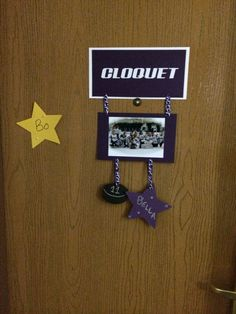 Hockey decoration for hotel door