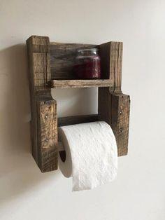 Reclaimed Wood Copper Rod Double Towel Rack Bathroom Shelf Rustic