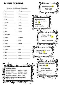 1000+ ideas about Plural Form Of Nouns on Pinterest