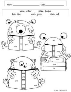 FREE First Grade/Second Grade Color by Sight Word (Back to
