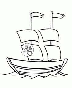 Fast Boat coloring page for kids, transportation coloring