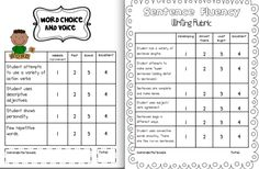 First Grade Research Report rubric for easy scoring and