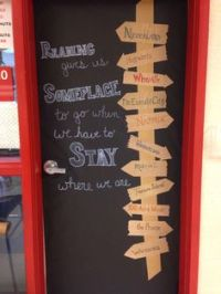 World Travel Bulletin Board - made me think of your door ...