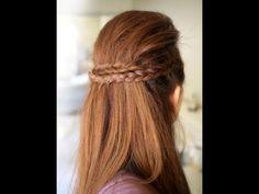 Uzun Saçlar Için Şelale Örgü Düğün Saç Modelleri Sac Model