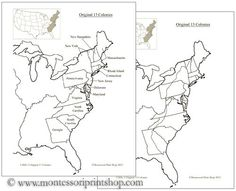 13 colonies, Maps and Templates on Pinterest
