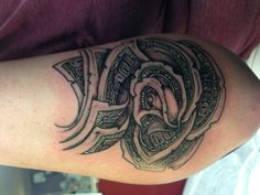 One Hundred Dollar Bill Rose Tattoo