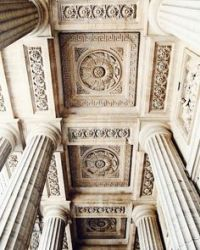 Neoclassical architecture. black and white. Corinthian ...