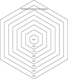 8 inch hexagon pattern. Use the printable outline for