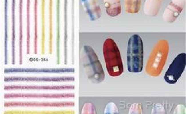 Details About Pretty Nail Art Decals Half Wraps French