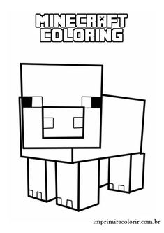 A free, printable Minecraft Gangnam-style coloring page