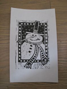 1000 Images About Lino Print Christmas Cards On Pinterest