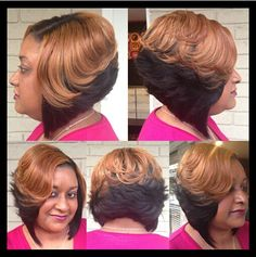 Quick Weave Layered Bob Styles By Cola Dope Stylist Pinterest