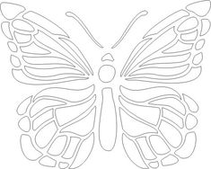 1000+ ideas about Butterfly Stencil on Pinterest