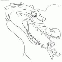 Coloring page Ice age collision course: scrat in space