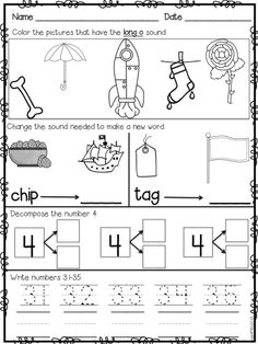 Morning Work: First Grade November Packet (Fall