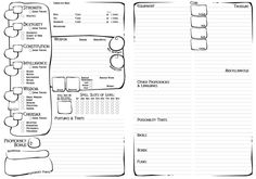 5 fun alternative character sheets for 5th edition