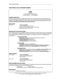 example of job skills in resume - Example Of Resume For A Job