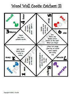 1000+ images about science cootie catchers on Pinterest