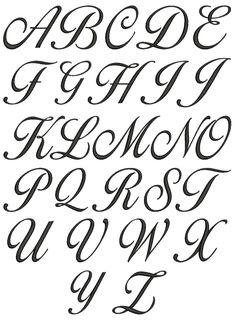 1000+ ideas about Cursive Fonts Alphabet on Pinterest