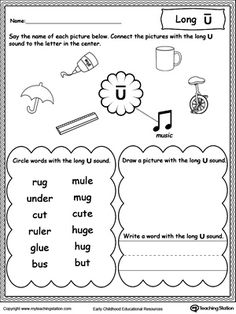Phonics, Worksheets and First grade phonics on Pinterest