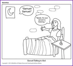 Samuel is called by God template. Print on card stock. Cut