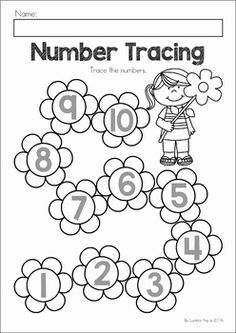 ***FREE*** Spring Trace and Count. Here are three Spring