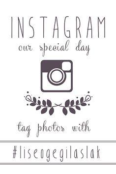 1000+ ideas about Wedding Hashtag Sign on Pinterest