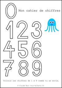 Apprendre à écrire les chiffres en maternelle gratuit