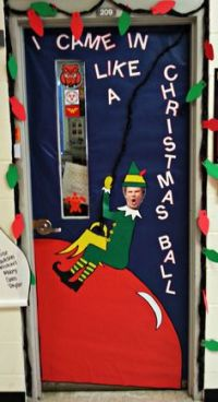 CRJH Library December door decor contest entry - Welcome ...