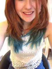 natural red hair turquoise dip
