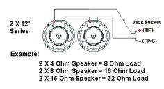 2 x 12 Mono/Stereo Speaker Wiring. (2) x 8 ohm speakers