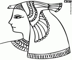 Ankh pattern. Use the printable outline for crafts